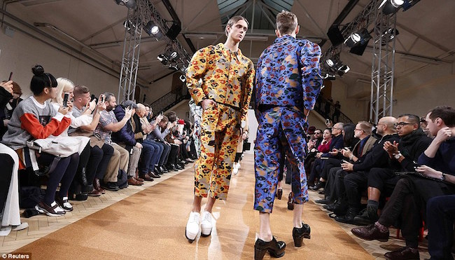 mens fashion reaches new heights male models take to the catwalk in